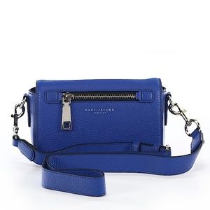 Marc Jacobs Royal Blue Leather Crossbody Purse Bag